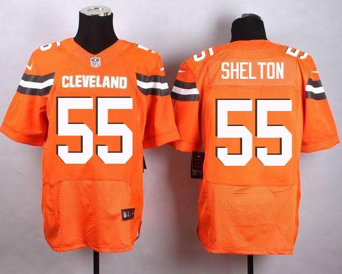 Nike Browns #55 Danny Shelton Orange Alternate Men's Stitched NFL