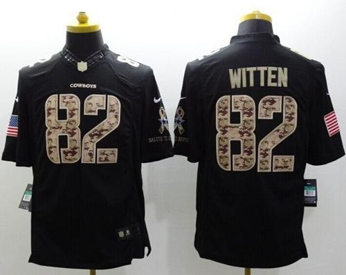 f6560b5c30e37 ... switzerland nike cowboys 82 jason witten black mens stitched nfl limited  salute to service jersey 34615