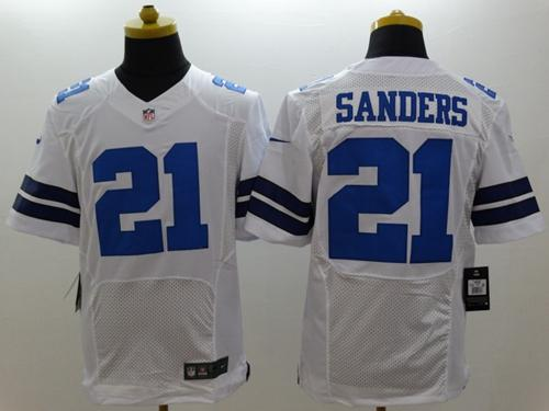 low priced d40a0 8988b Nike Cowboys #21 Deion Sanders White Men's Stitched NFL ...