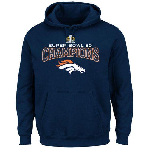 c3785f538 Denver Broncos Majestic Big   Tall Super Bowl 50 Champions Choice VIII Pullover  Hoodie Navy