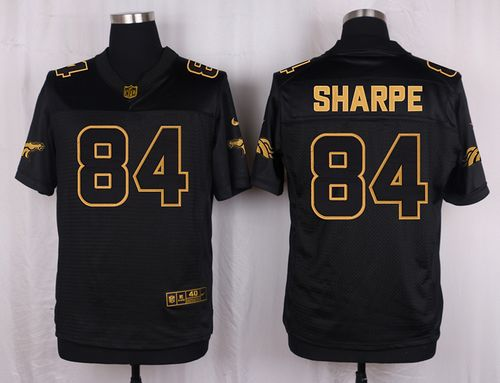 newest collection 7f7ae 5d8b3 Nike Broncos #84 Shannon Sharpe Black Men's Stitched NFL ...