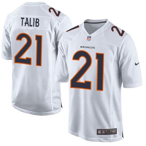 Nike Broncos #21 Aqib Talib White Men's Stitched NFL Game Event Jersey  hot sale