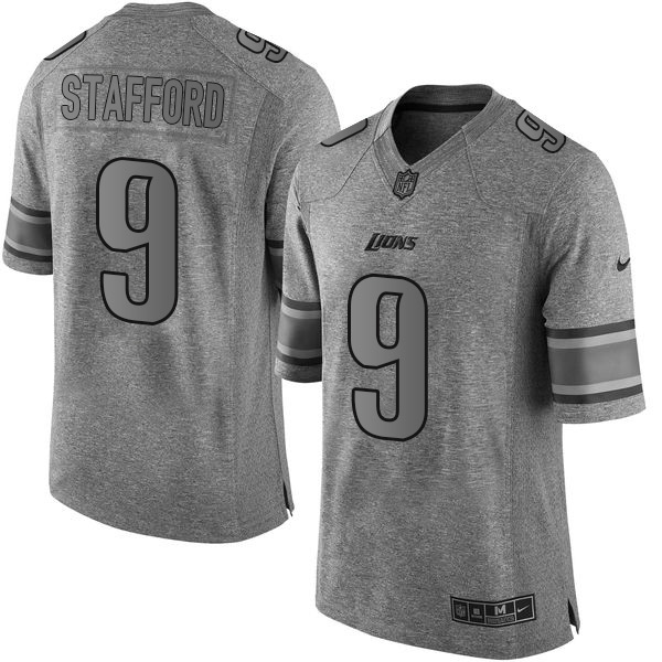 Nike Lions  9 Matthew Stafford Gray Men s Stitched NFL Limited Gridiron  Gray Jersey 6706e3a8b