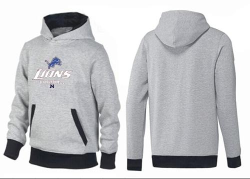 Detroit Lions Critical Victory Pullover Hoodie Grey   Black aa2f29a21