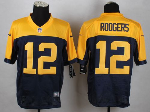 056e05a19 Nike Packers  12 Aaron Rodgers Navy Blue Alternate Men s Stitched NFL New Elite  Jersey