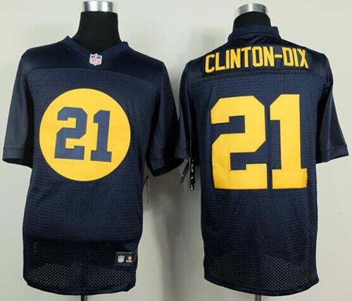 Nike Packers #21 Ha Ha Clinton Dix Navy Blue Alternate Men's  for sale