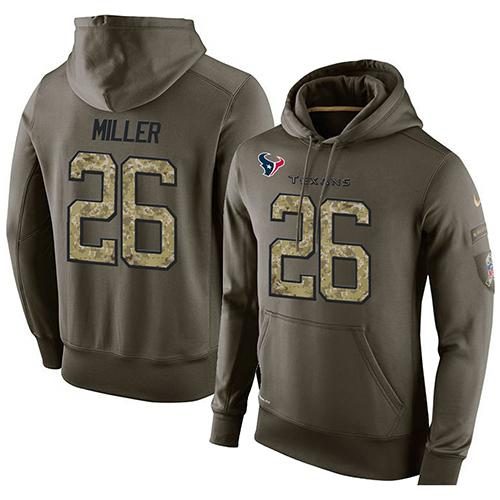 Discount NFL Men's Nike Houston Texans #26 Lamar Miller Stitched Green Olive  for cheap