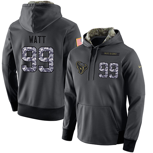 NFL Men s Nike Houston Texans  99 J.J. Watt Stitched Black Anthracite  Salute to Service Player Performance Hoodie 3c91390d2