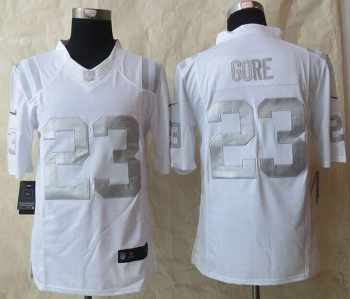 Top NFL Men's Nike Indianapolis Colts #23 Frank Gore Stitched Green  free shipping