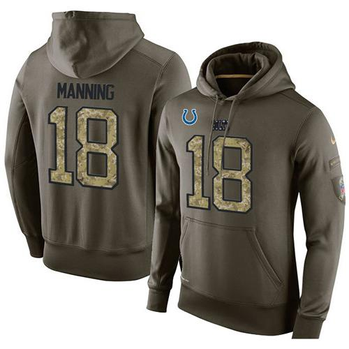 New NFL Men's Nike Indianapolis Colts #18 Peyton Manning Stitched Green  supplier