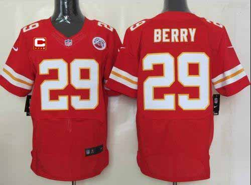 Cheap Nike Chiefs #29 Eric Berry Red Team Color With C Patch Men's  for sale