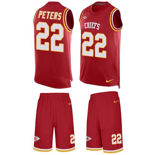Nike Chiefs  22 Marcus Peters Red Team Color Men s Stitched NFL Limited  Tank Top Suit f13403ee4