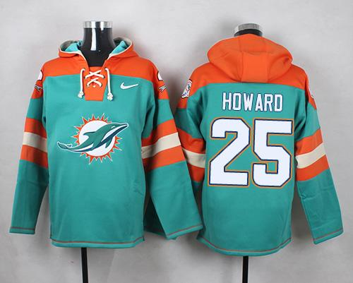 hot sale online 7c718 014a0 Nike Dolphins #25 Xavien Howard Aqua Green Player Pullover ...