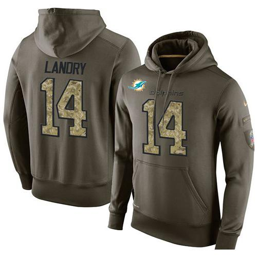 Wholesale NFL Men's Nike Miami Dolphins #14 Jarvis Landry Stitched Green Olive  free shipping