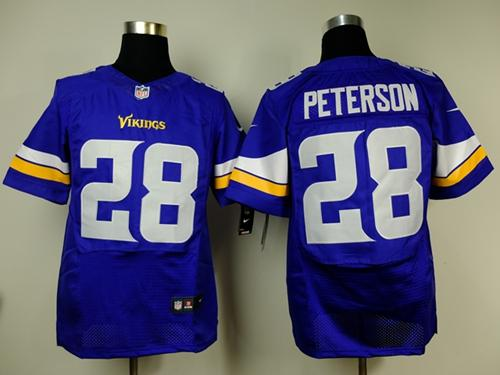 Nike Vikings #28 Adrian Peterson Purple Team Color Men's Stitched  for cheap