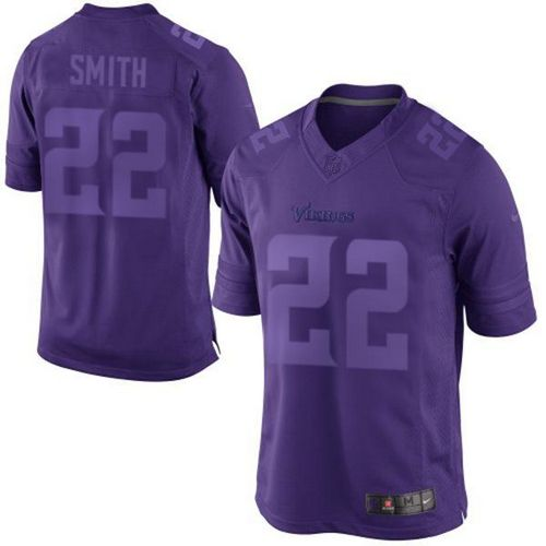 2469b8d4b Nike Vikings  22 Harrison Smith Purple Men s Embroidered NFL Drenched  Limited Jersey