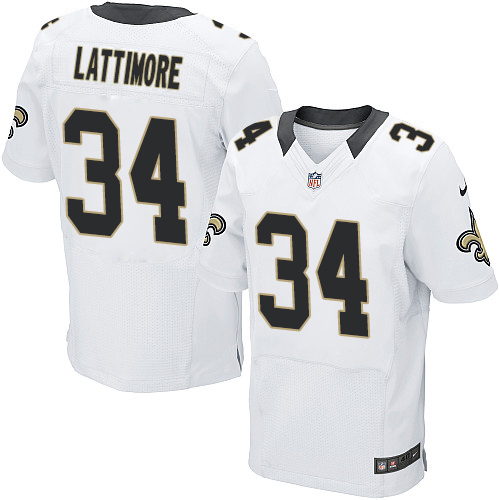 Nike New Orleans White Super Bowl XLVII Men's Elite Jersey  supplier