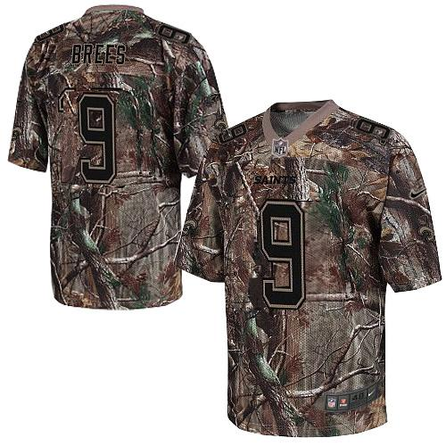 3bed6bf0f Nike Saints  9 Drew Brees Camo Men s Embroidered NFL Realtree Elite Jersey