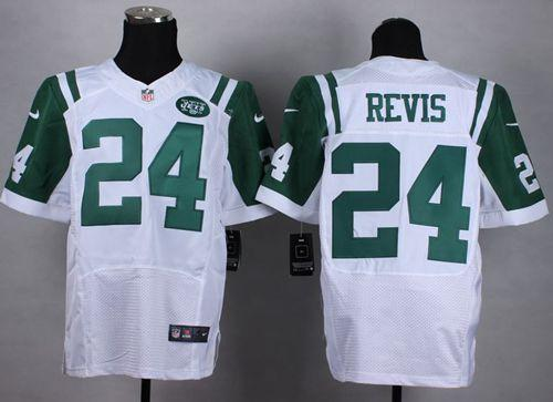 Cheap Nike Jets #24 Darrelle Revis White Men's Stitched NFL Elite Jersey  for sale