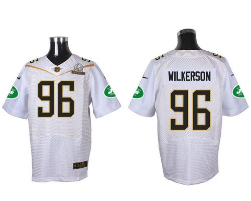 Hot Nike Jets #96 Muhammad Wilkerson White 2016 Pro Bowl Men's Stitched  for sale