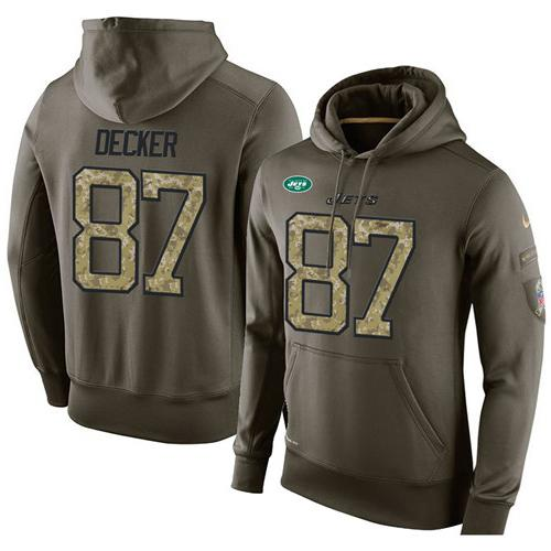 Discount NFL Men's Nike New York Jets #87 Eric Decker Stitched Green Olive  hot sale