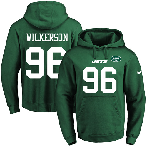 Nike Jets  96 Muhammad Wilkerson Green Name   Number Pullover NFL Hoodie b09bb454f