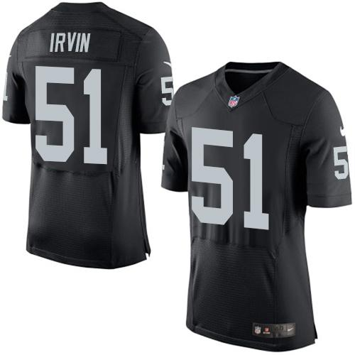 1fce0d3f4 ... best price nike raiders 51 bruce irvin black team color mens stitched  nfl new elite jersey ...