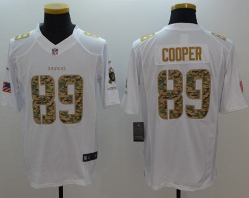 cfc21ab38 Nike Raiders  89 Amari Cooper White Men s Stitched NFL Limited Salute to  Service Jersey