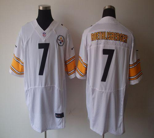 Hot Nike Steelers #7 Ben Roethlisberger White Men's Embroidered NFL  free shipping