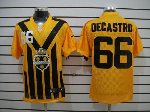 9ec79bfa897 Nike Steelers  66 David DeCastro Gold 1933s Throwback Men s Embroidered NFL  Elite Jersey