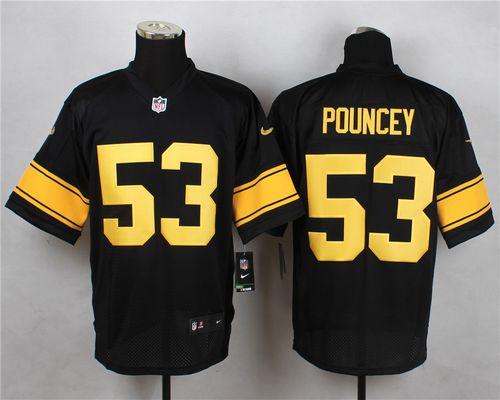 2d61d6528 Nike Steelers  53 Maurkice Pouncey Black(Gold No.) Men s Stitched NFL Elite