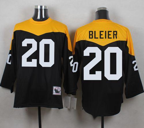 Discount Mitchell And Ness 1967 Steelers #20 Rocky Bleier BlackYelllow  supplier