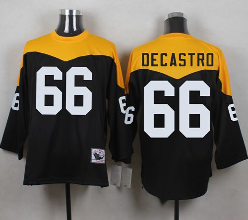 Mitchell And Ness 1967 Steelers #66 David DeCastro BlackYelllow  free shipping