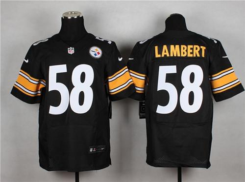 New Nike Steelers #58 Jack Lambert Black Team Color Men's Stitched NFL  free shipping