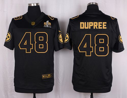 e23a693ae9f Nike Steelers #48 Bud Dupree Black Men's Stitched NFL Elite Pro Line Gold  Collection Jersey
