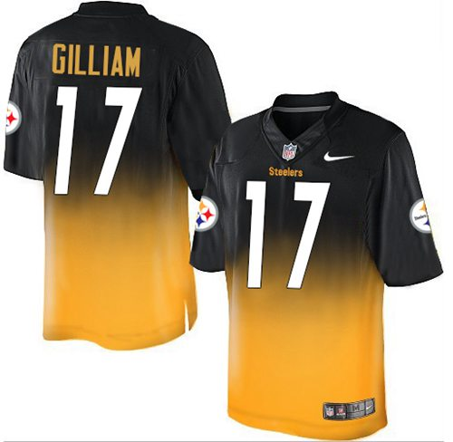 Nice Nike Steelers #26 Le'Veon Bell YellowBlack Alternate 80TH Throwback