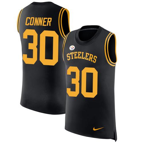 New Nike Steelers #30 James Conner Black Team Color Men's Stitched NFL