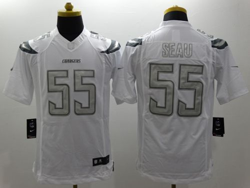 brand new 6f367 19c0a Nike Chargers #55 Junior Seau White Men's Stitched NFL ...