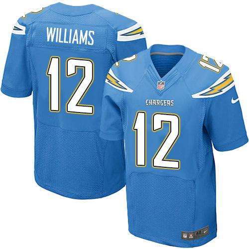 a7ef82884fb Nike Chargers #12 Mike Williams Electric Blue Alternate Men's Stitched NFL  New Elite Jersey