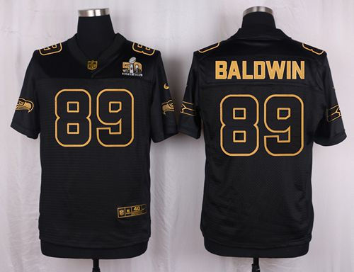 Top Nike Seahawks #89 Doug Baldwin Black Men's Stitched NFL Elite Pro