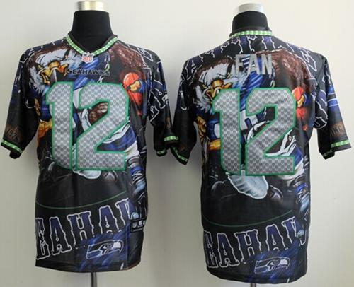 Nice Nike Seahawks #12 Fan Team Color Men's Stitched NFL Elite Fanatical  free shipping