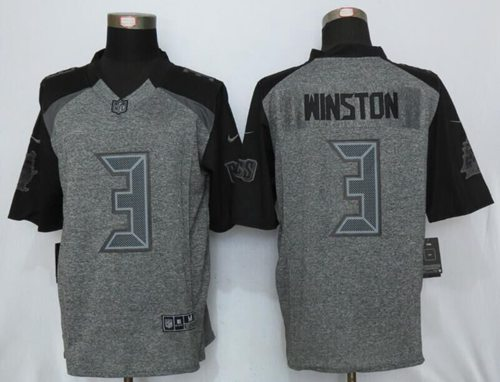 Wholesale Nike Buccaneers #3 Jameis Winston Gray Men's Stitched NFL Limited  free shipping