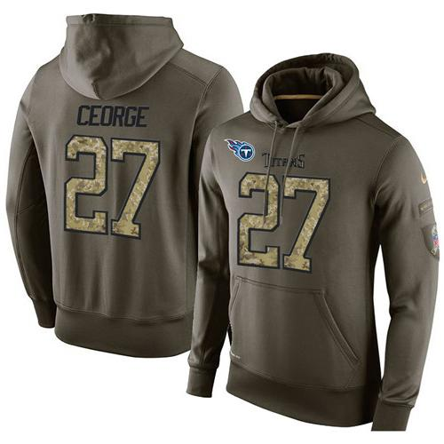 Nice NFL Men's Nike Tennessee Titans #27 Eddie George Stitched Green  supplier