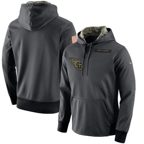 Cheap Men's Tennessee Titans Nike Anthracite Salute to Service Player  hot sale