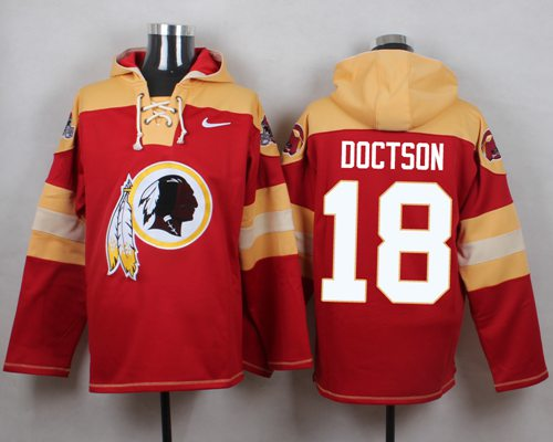 Nike Redskins  18 Josh Doctson Burgundy Red Player Pullover NFL Hoodie 7bda29a3e