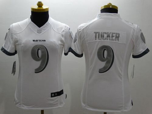 differently 183f1 daf76 Nike Ravens #9 Justin Tucker White Women's Stitched NFL ...