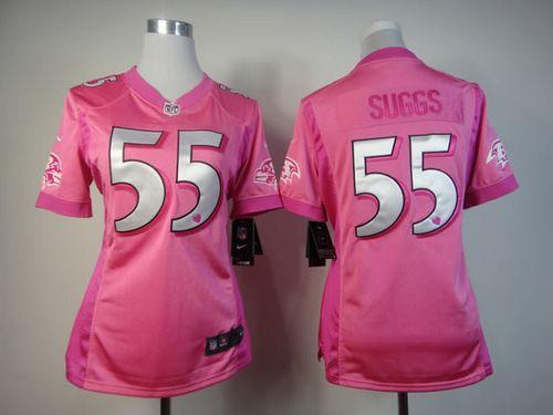 Nike Ravens #55 Terrell Suggs Pink