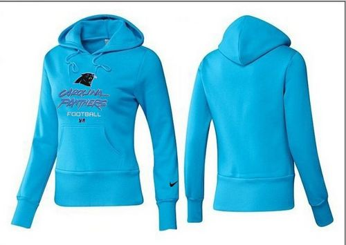 separation shoes 36470 595b6 Women's Carolina Panthers Authentic Logo Pullover Hoodie Blue