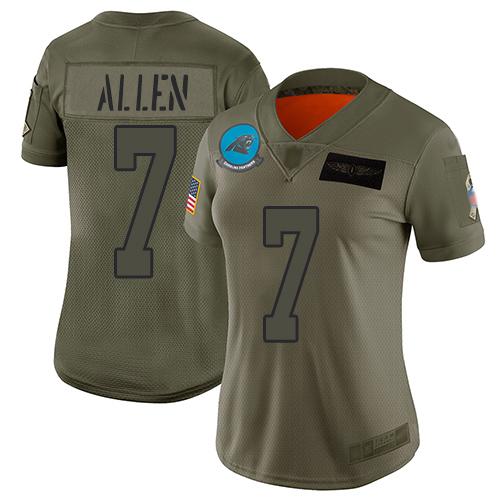 Cheap Nike Panthers #59 Luke Kuechly Gray Super Bowl 50 Women's Stitched