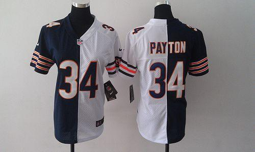 Hot Nike Bears #34 Walter Payton Navy BlueWhite Women's Embroidered NFL  supplier